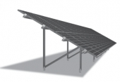 PHOTOVOLTAIC ALUMINIUM STRUCTURES ON TWO POSTS N-RACK SYSTEM